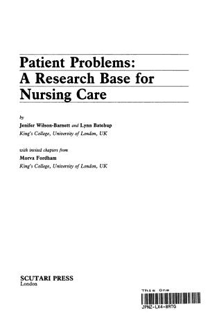 Patient Problems