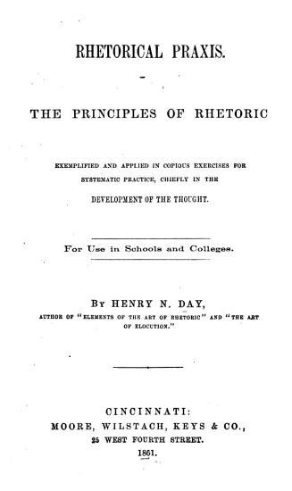 Rhetorical Praxis PDF
