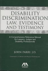Disability Discrimination Law  Evidence and Testimony PDF