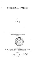 Occasional papers  by C H M  PDF