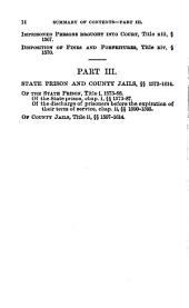 The Penal Code of California: Enacted in 1872, as Amended in 1885