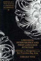 Linguistic Interference and First language Attrition PDF