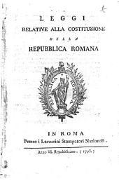 Leggi relative alla costituzione della Repubblica Romana