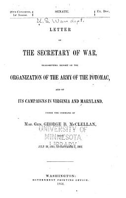 Letter of the Secretary of War PDF