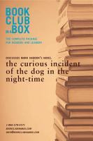 Discusses the Curious Incident of the Dog in the Night time PDF