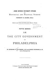 The City Government of Philadelphia: Volume 5
