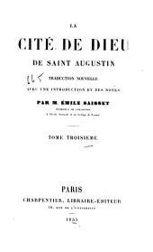 La cite de Dieu de Saint Augustin: Volumes3à4