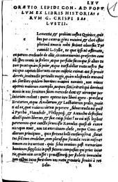 Oratio Lepidi con. ad populum: ex libris historiarum C. Cr. Sallustii