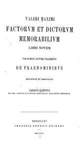 Valeri Maximi Factorum et dictorum memorabilium libri novem