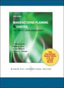 Manufacturing Planning and Control for Supply Chain Management PDF