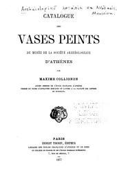 Catalogue des vases peints du musée de la société archéologique d'Athènes