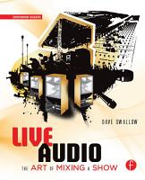 Live Audio  The Art of Mixing a Show PDF