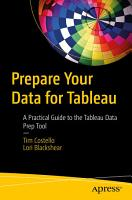 Prepare Your Data for Tableau PDF