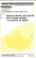 High School Students Ten Years After A Nation at Risk PDF
