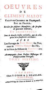 Oeuvres de Clement Marot: Volume6