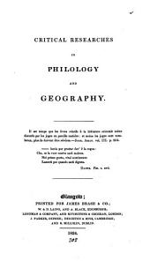Critical researches in philology and geography [by James and John Bell].