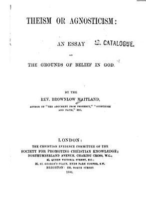 Theism Or Agnosticism
