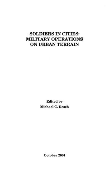 Soldiers in Cities PDF