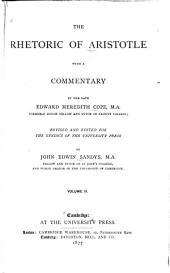 The Rhetoric of Aristotle: Volume 3