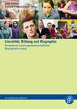 Literalit  t  Bildung und Biographie PDF