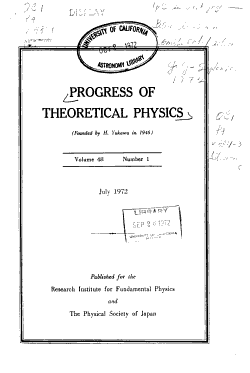 Progress of Theoretical Physics PDF
