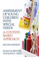 Assessment of Young Children with Special Needs PDF
