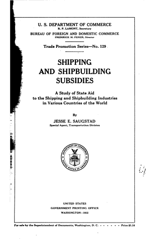 SHIPPING AND SHIPBUILDING SUBSIDIES PDF