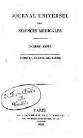 Journal universel des sciences médicales: Volume42