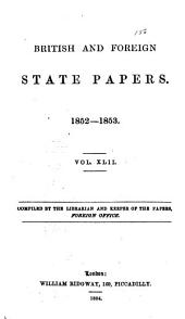 British and Foreign State Papers: Volume 42