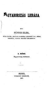 Magyarország leirása: 1-2. kötet