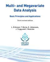 Multi  and Megavariate Data Analysis Basic Principles and Applications PDF