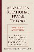 Advances in Relational Frame Theory PDF