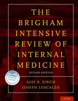 Brigham Intensive Review of Internal Medicine PDF