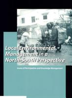 Local Environmental Management in a North South Perspective PDF