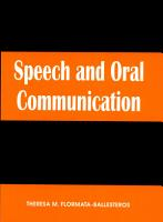 Speech   Oral Communication PDF