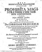 Disp. inaug. iur. de prohibita magistratuum cum subditis conventione