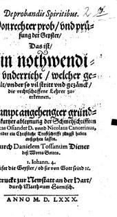 De probandis spiritibus, von rechter prob und prüfung der Geyster