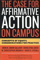 The Case for Affirmative Action on Campus PDF