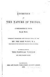 Lucretius On The Nature Of Things Book PDF