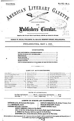 American Literary Gazette and Publishers  Circular PDF