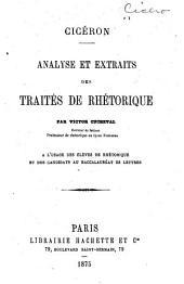 Analyse et extraits des traités de rhétorique