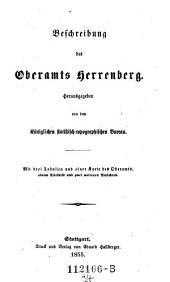 Beschreibung des Oberamts Herrenberg: Band 34