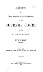 Kansas Reports: Volume 15