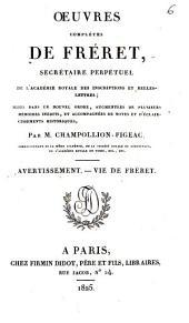 Oeuvres complètes de Fréret, secrétaire perpétuel de l'Académie royale des Inscriptions et Belles-Lettres