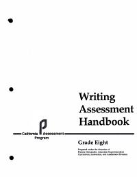Writing Assessment Handbook  Grade Eight