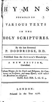 Hymns founded on various texts in the holy Scriptures, publ. by J. Orton