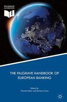The Palgrave Handbook of European Banking PDF