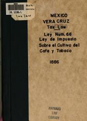 Ley núm. 66 de 19 de noviembre de 1866: y su respectivo reglamento