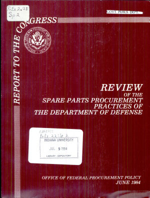 Review of the Spare Parts Procurement Practices of the Department of Defense