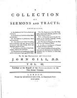 A Collection of Sermons and Tracts     PDF